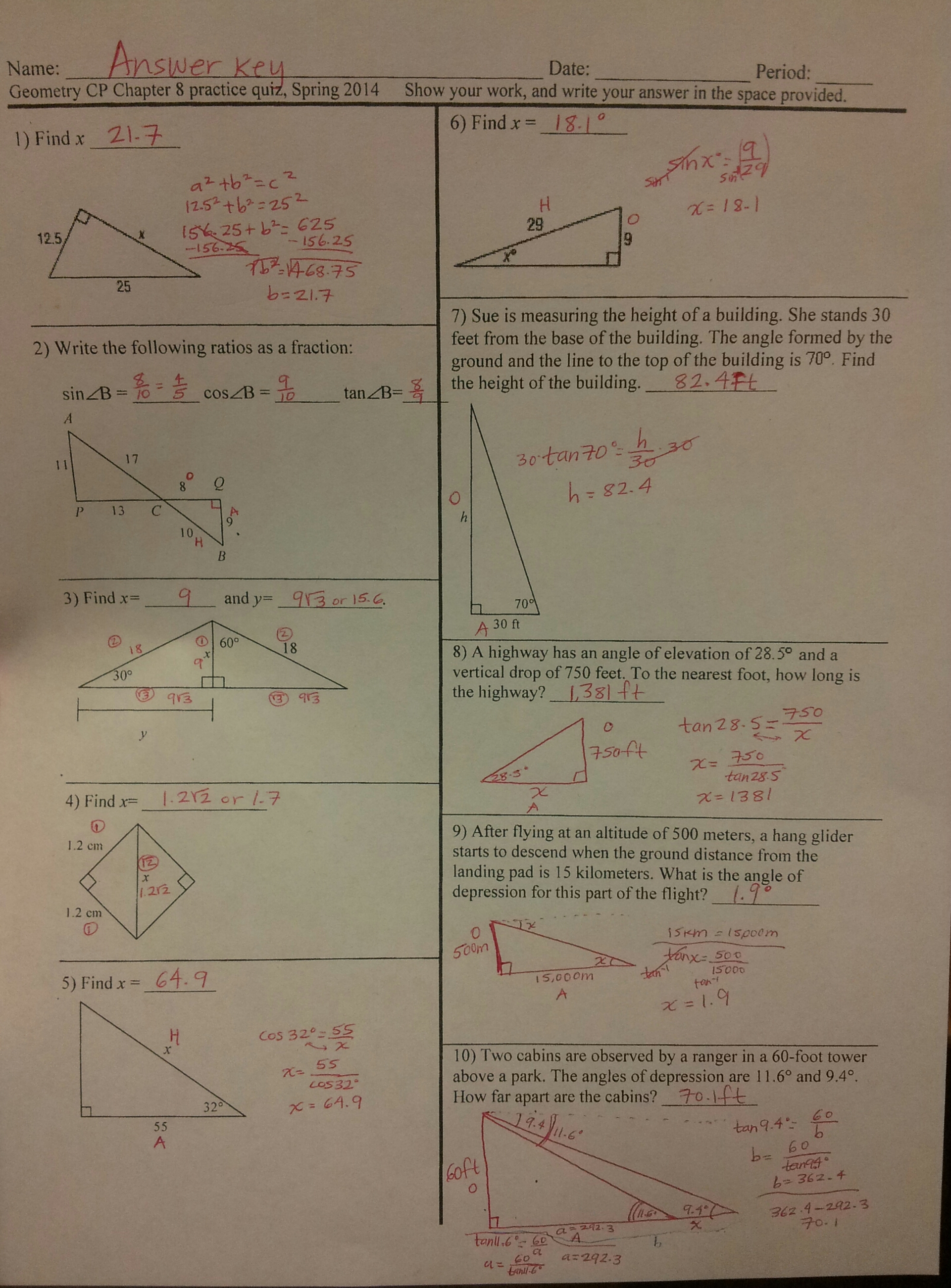 benchmark for geometry spring 2014 answers